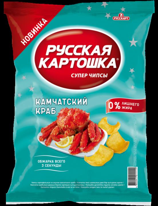 Чипсы Русская картошка 110г Камчатский краб