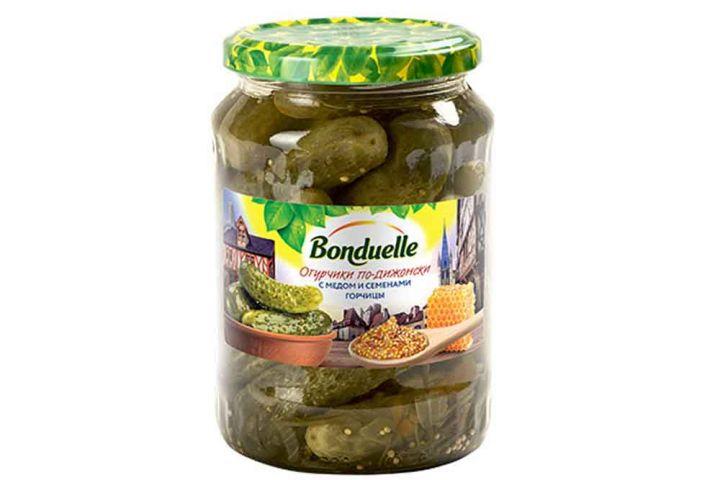 Огурцы Бондюэль по-подижонски с медом и семенами горчицы ст/б, 720мл.