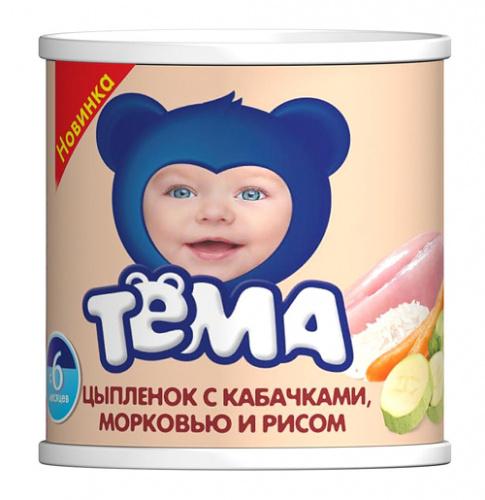 Пюре Тёма 100г Цып/каб/морк/рис ж/б