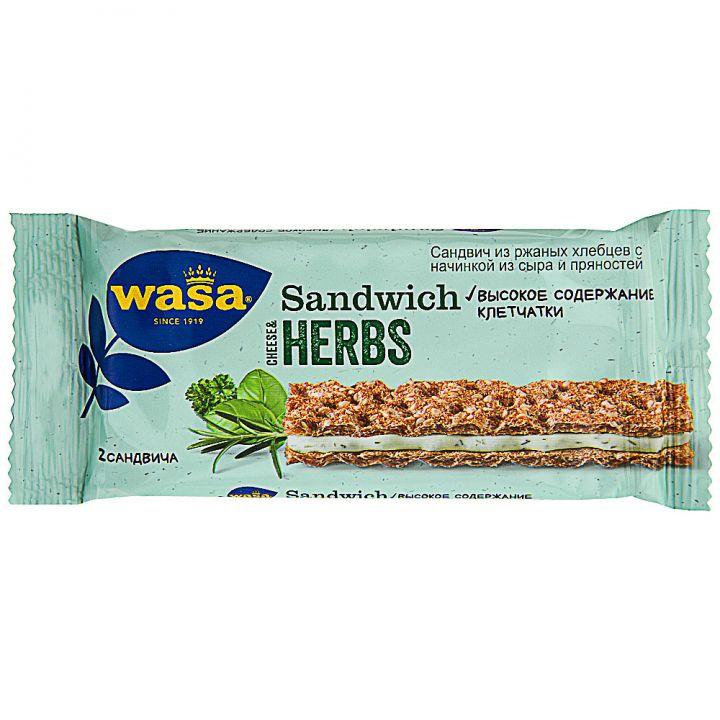 Хлебцы WASA 30г ржаные Сандвич сыр и пряности