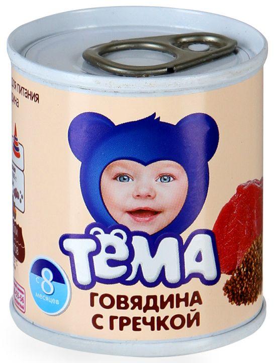 Пюре Тёма 100г Говядина/гречка ж/б