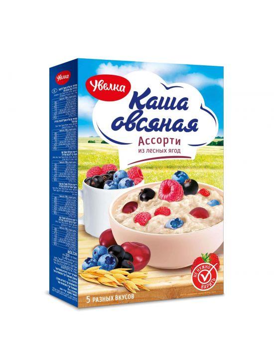 Каша Увелка (5*40г) 200г Овсяная Ассорти лесные ягоды