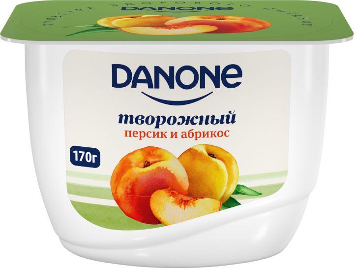 Продукт творожный Данон Экономный 3,6% 170г Персик/абрикос