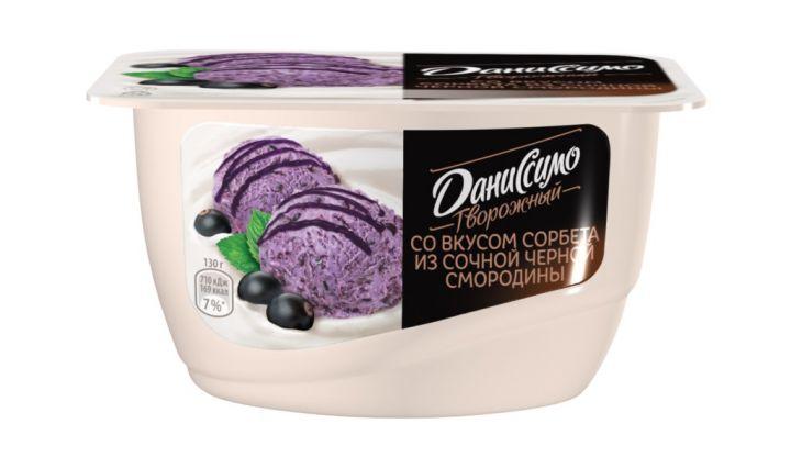 Продукт творож Даниссимо 5,6% 130г сорбет из черной смородины