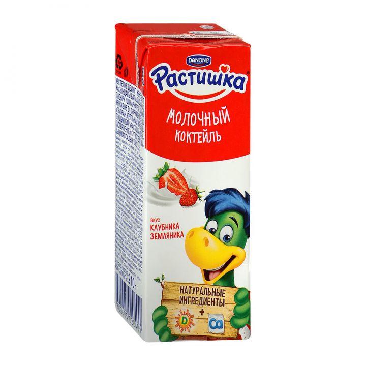 Молочный коктейль Растишка 210 г Клубника Данон