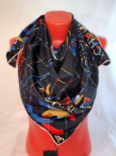 Шелковый платок Chanel черный, арт.089
