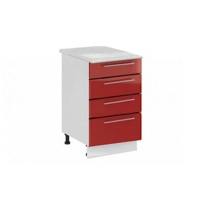 Шкаф нижний с 4 ящиками Ксения ШН4Я 600