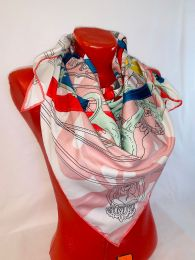 Шелковый платок Hermes, арт 096