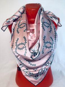 Шелковый платок Chanel розовый, арт. 102