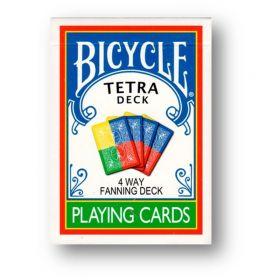 """Игральные карты Bicycle """"Tetra Deck 4-Way Fanning"""", цвет: желтый, синий, зеленый"""