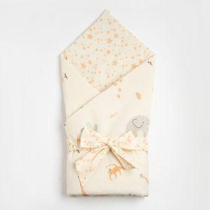 "Одеяло-конверт ""Крошка Я"" Сафари, 100х100 см, 100% хлопок 5100057"
