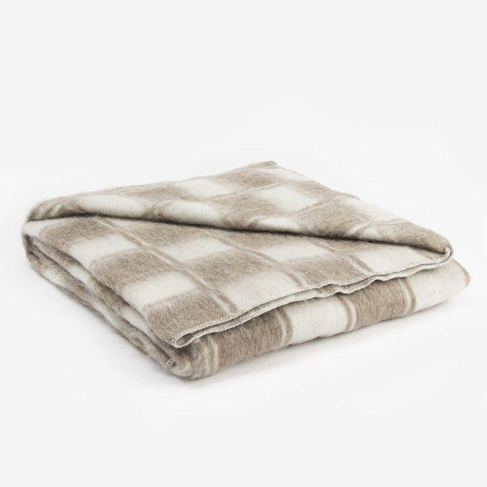 Одеяло полушерстяное, размер 140х205 см, цвет/клетка МИКС, 70% шерсти, 30 % полиэстер