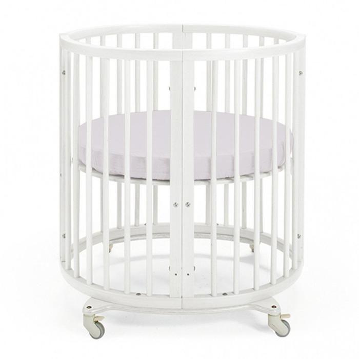 Простыня круглая «Крошка Я» 115х115 см, цвет серый, мако-сатин