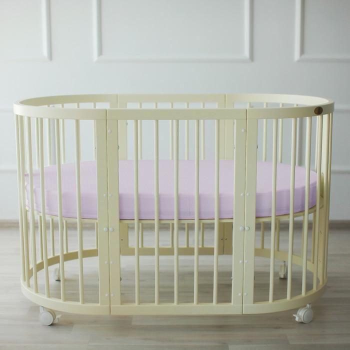 Простыня овальная «Крошка Я» 165х115 см, цвет серый, мако-сатин