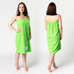 Килт жен КЖ-2019, 80х150+-2 зелень, вышивка Снеговик, махра 300г/м хл100% 3568324