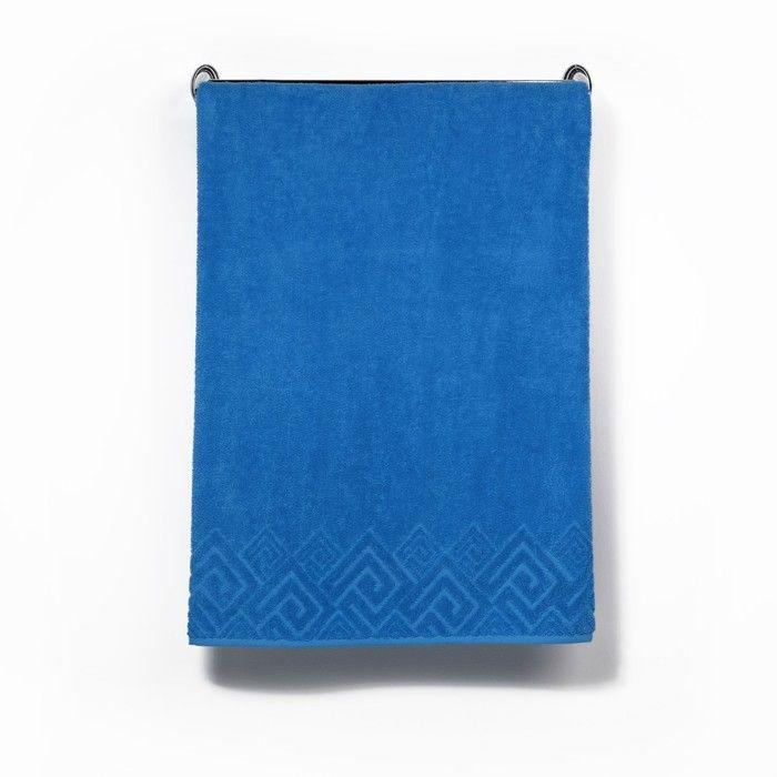 Полотенце махровое «Poseidon» цвет голубой, 70х130