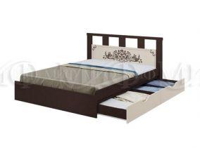Кровать Жасмин с ящиками 1,6 м