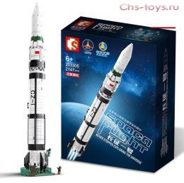 Конструктор SEMBO BLOCK Ракета 203305 2147 дет