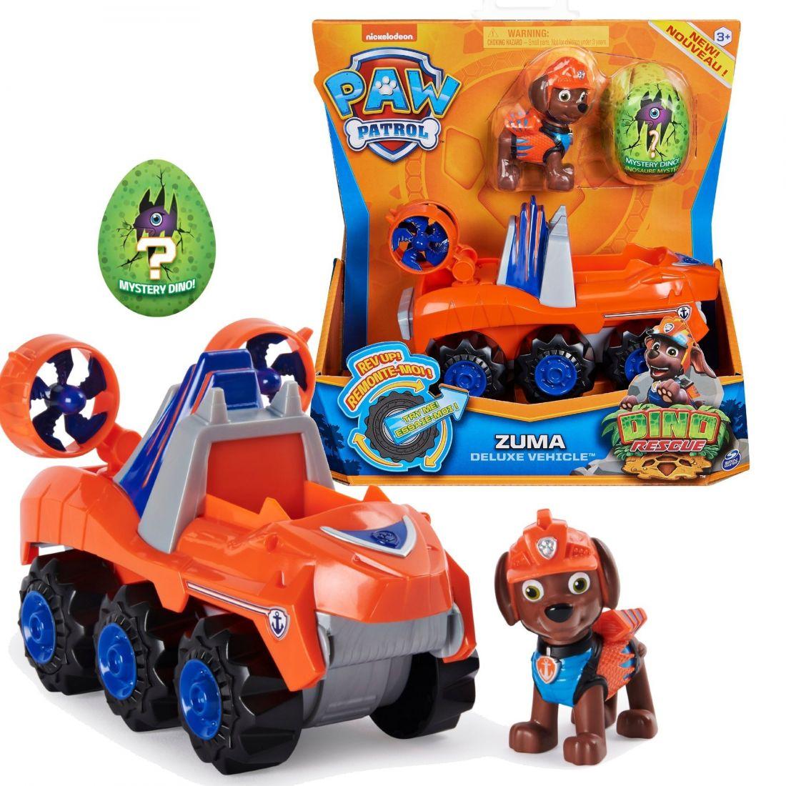 Щенячий патруль Dino Rescue Zuma + машина с сюрпризом 6059525