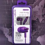 ELMCOEI EV-187 Фиолетовые наушники-гарнитура