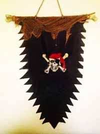 Знамя пирата светящееся (98 -135 см)