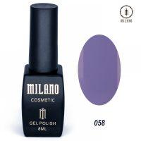 Гель-лак Milano Cosmetic №058, 8 мл