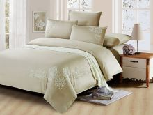 Комплект постельного белья Luxury modal  с вышивкой семейный Арт.41/004-ME
