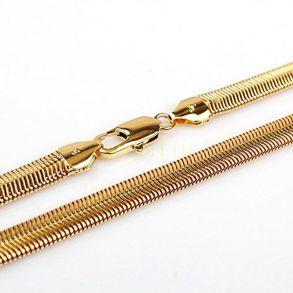 """Позолоченная цепочка или браслет """"Змейка"""", 5 мм (арт. 250169)"""