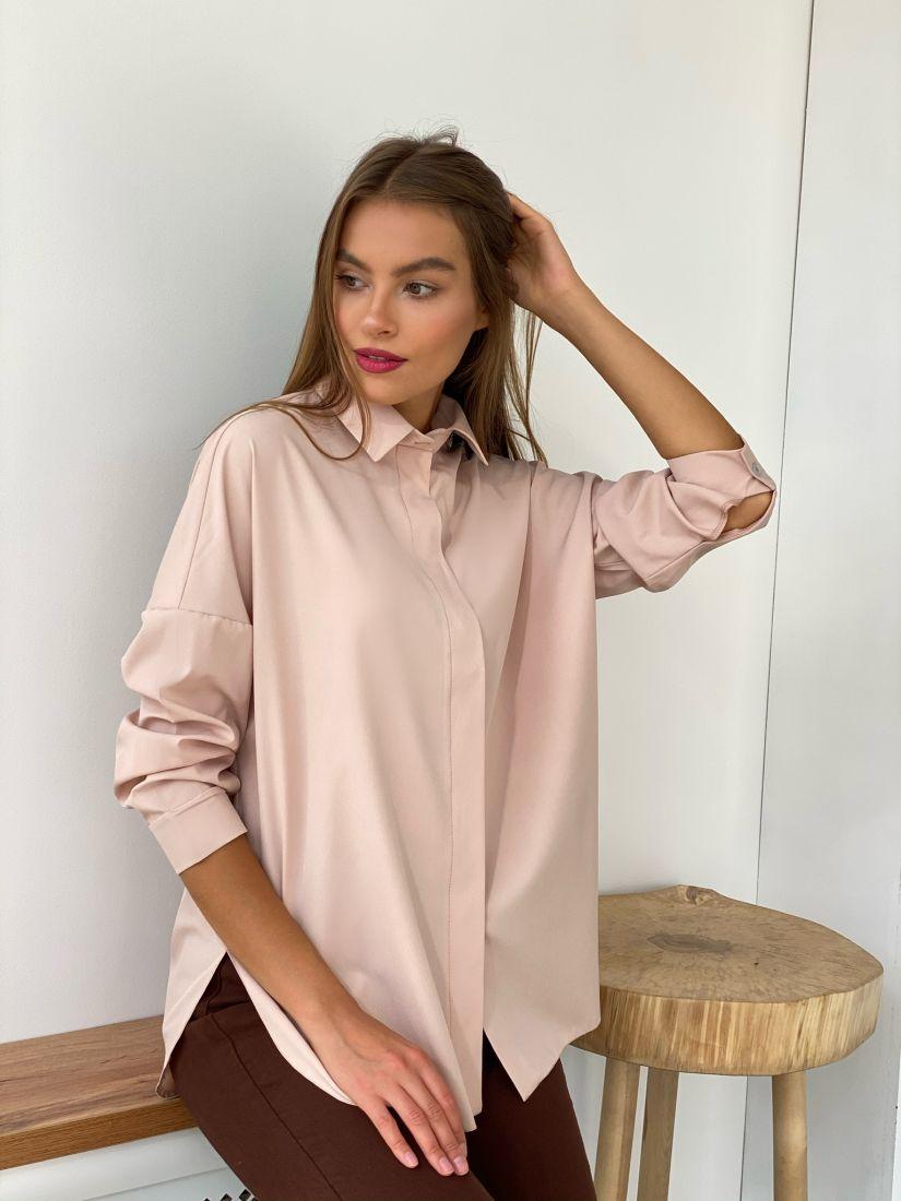 s2546 Рубашка пудровая