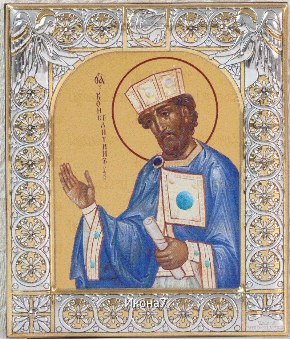 Константин равноапостольный царь (9х10,5см)