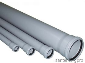 Труба канализационная ПП с раструбом 50х2000мм   115200 Птк (Арт. 115200)