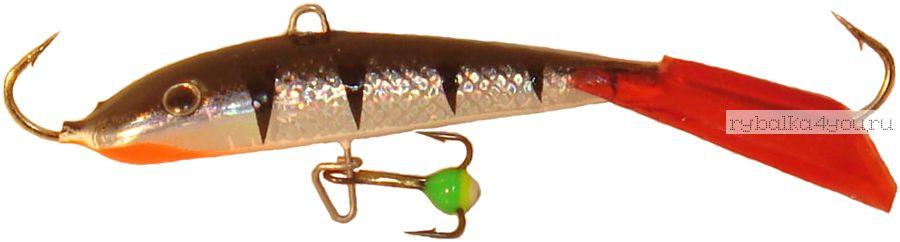 Купить Балансир Lucky John Fin 3 + тройник / 30 мм 5 гр цвет: 12HRT