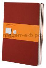 Книжка зап.Moleskine XLarge Cahier линейка красная CH121