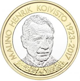Мауно Хенрик Койвисто(1923-2017)5 евро Финляндия 2018