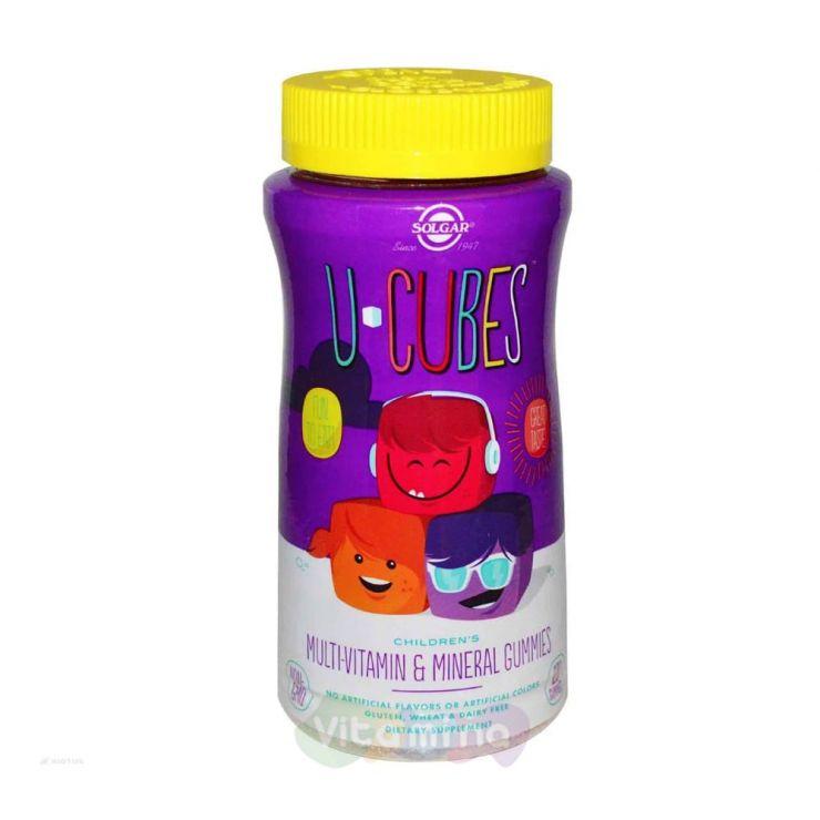 Солгар Детские витамины и мультиминералы U Cubes, 120 шт.