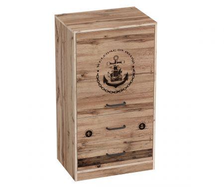 Фрегат Тумба с дверцей и ящиком