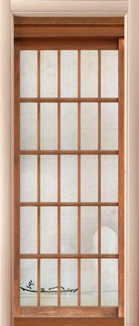 Наклейка на дверь 障子 - Сёдзи