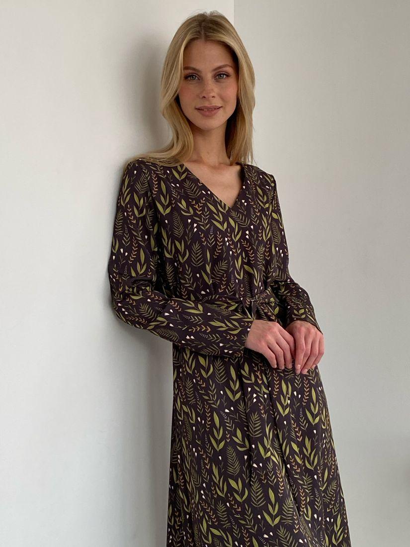 s2737 Платье с флористичным дизайном