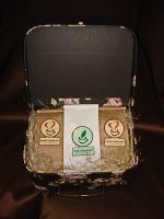 Саквояж дамский большой- подарочный набор с чаем и кофе