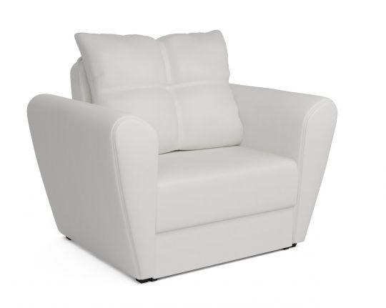 Кресло - кровать КВАРТЕТ (Амстердам) белый (экокожа)