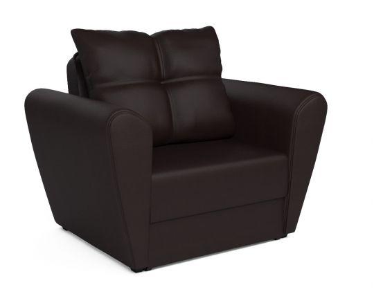 Кресло - кровать КВАРТЕТ(Амстердам) шоколад (экокожа)