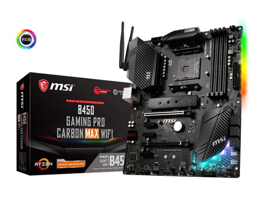 Материнская плата MSI B450 Gaming Pro Carbon Max Wi-Fi Socket AM4