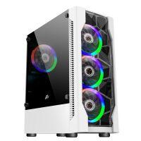 Корпус 1stPlayer D4-WH-R1 Color LED White без БП