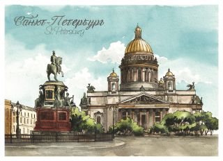 Postcard St. Petersburg