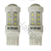 Автомобильные светодиодные лампочки в поворотники оранжевые T20-18-3030