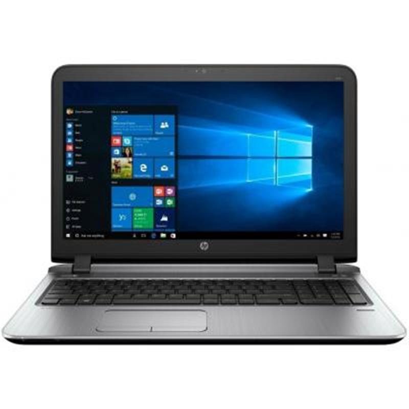 """Ноутбук HP ProBook 450 G4 (2HG45ES); 15.6"""" (1920x1080) LED матовый / Intel Core i3-7100U (2.4 ГГц) / RAM 8 ГБ / HDD 1 ТБ + 128 ГБ / NVIDIA GeForce GT 930MX 2 ГБ / DVD-RW / LAN / Wi-Fi / BT / веб-камера / DOS / 2.04 кг / серый / сканер отпечатков паль"""