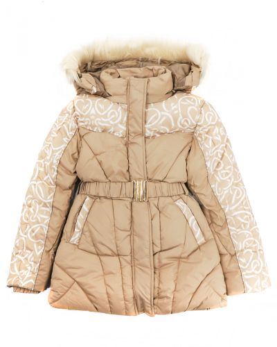 Куртка с капюшоном для девочек 9-13 лет Bonito OP057K бежевый