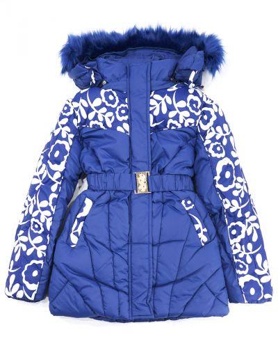 Куртка с капюшоном для девочек 9-13 лет Bonito OP057K синий