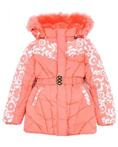 Куртка с капюшоном для девочек 9-13 лет Bonito OP057K коралловый