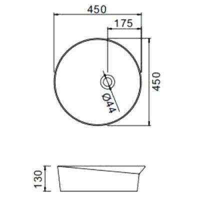 Раковина на столешницу Gappo GT101